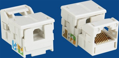 China manufacturer  TM-8302 UTP Cat.5E RJ45 Data keystone jack  company